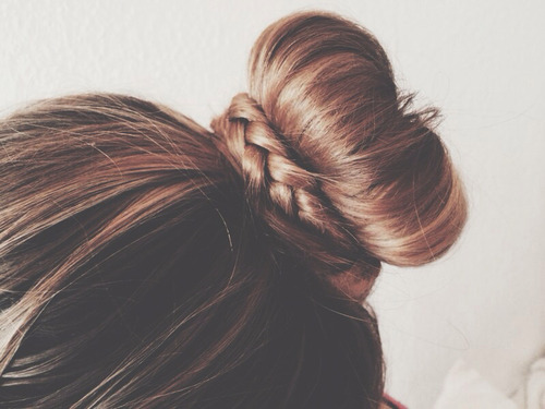 Bohemian braided bun
