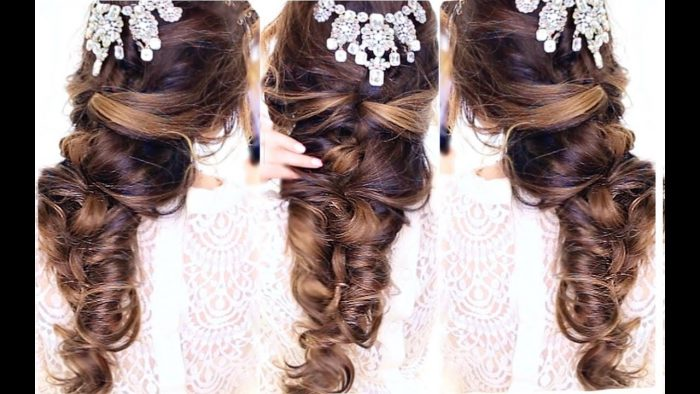 Crisscross bridal hairstyle