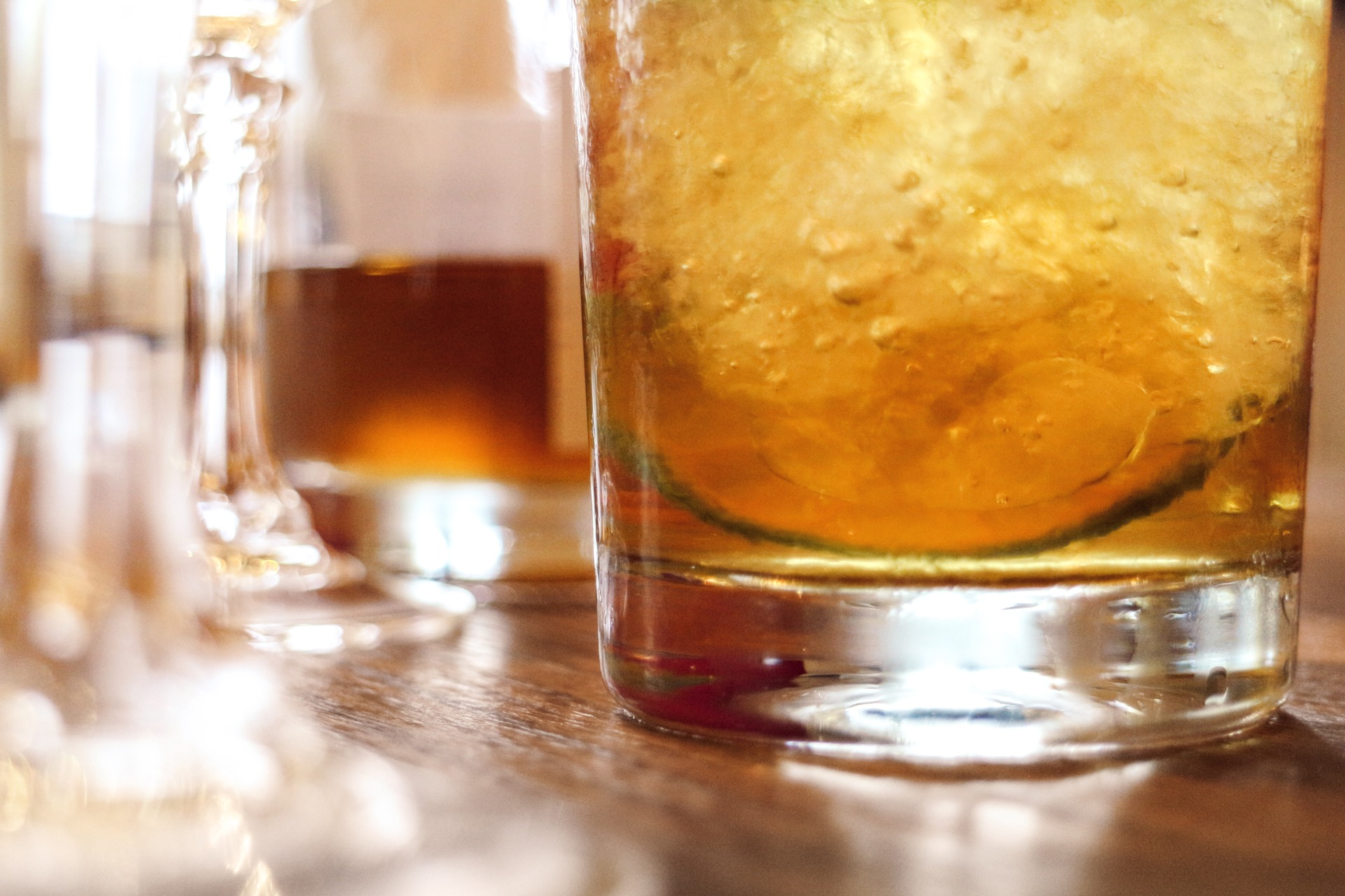 The whisky tumbler (aka the rocks glass, the old fashioned glass, the lowball)